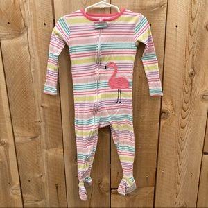 Carter's 2T flaming stripe cotton footie pajamas